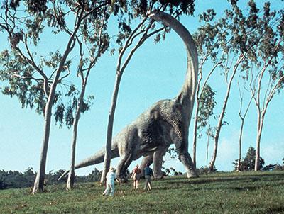 フルCGで描かれた恐竜の様子